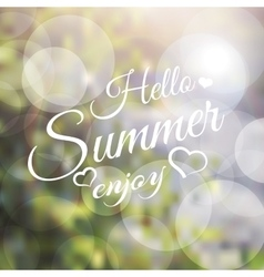 Say hello to summer vector