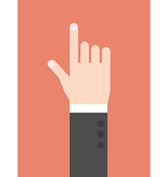 Hand with index finger vector
