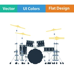 Drum set icon vector
