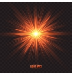 Abstract gleaming light rays background vector
