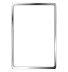 Abstract metallic silver frame vector