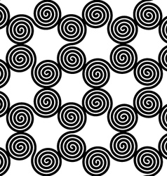 Abstract spiral black and white seamless vector image vector image