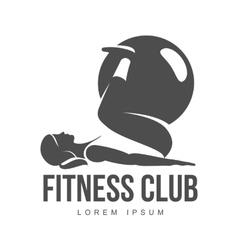Aerobic workout logo vector