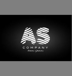 as a s letter alphabet logo black white icon vector image vector image