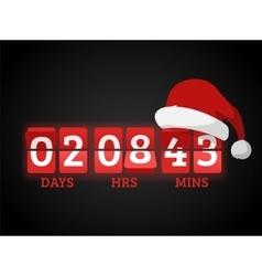 Christmas clock timer digits board panels vector image