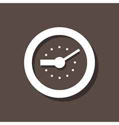 Clock Icon On Dark Background vector image vector image