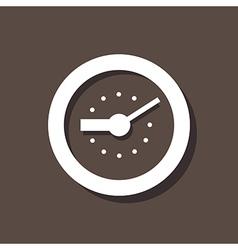 Clock Icon On Dark Background vector image