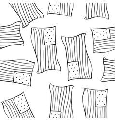 Hand draw memorial day doodles vector
