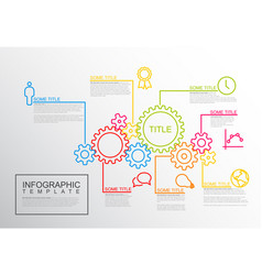 Infographic report template gear wheels vector