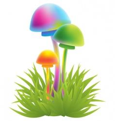 Magic mushrooms vector