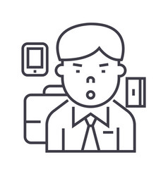 managerceo line icon sign vector image