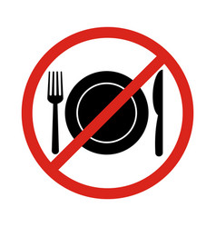 no eating signno food or drink allowed vector image vector image