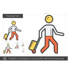 Passenger line icon vector