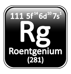 Periodic table element roentgenium icon vector