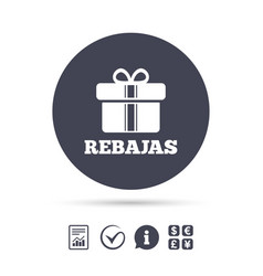 Rebajas - discounts in spain sign icon gift vector