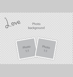 Romantic photo frame for lovers vector