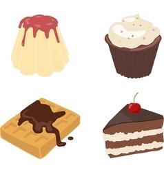 Set Of Flat Drawn Sweets vector image vector image