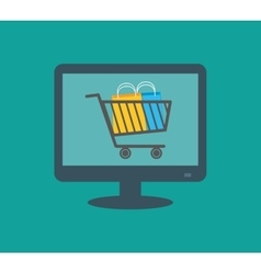 Shopping buy digital marketing vector