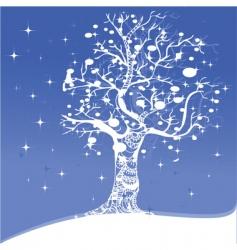 snowflake tree vector image vector image