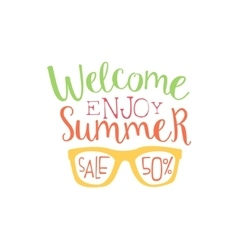 Summer sale colorful ad vector