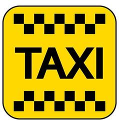 Taxi button vector image vector image