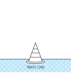 Traffic cone icon Road warning sign vector image vector image