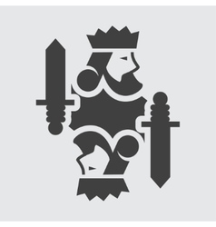 King card icon vector