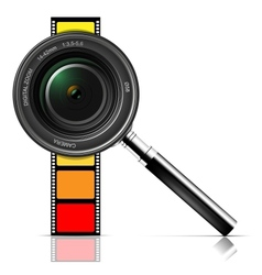 Camera lens and film vector