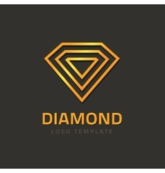 Abstract jewelry logo diamond logotype design vector image