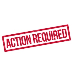 Action required rubber stamp vector
