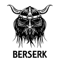 Berserk or berserker warrior head icon vector