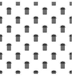 Metal trash can pattern vector