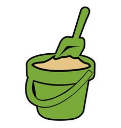 isolated sand bucket vector image