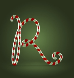 Candy cane abc R vector image