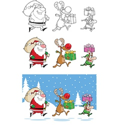 Christmas cartoons vector