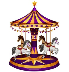 A carrousel ride vector