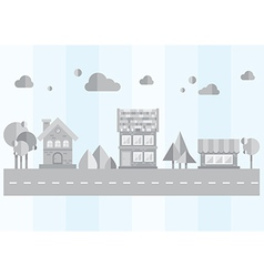Gray city on a blue background vector