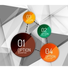 Business geometric option steps infographics vector