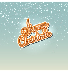 Winter background with the words merry christmas vector