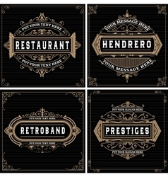 Vintage logo templates hotel restaurant vector