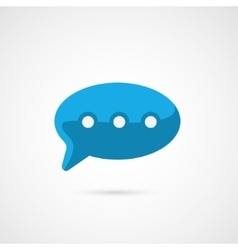 Blue speech bubble icon vector