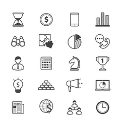 Business and finance strategy icons line vector