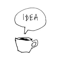 coffee cup idea vector image