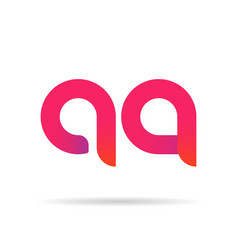 a and q letter signs vector image vector image