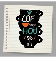 A cup of coffee doodle vector image vector image