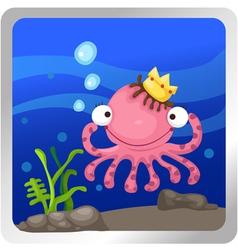 An octopus underwater background vector