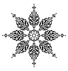 Antique ottoman turkish design nine vector