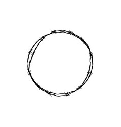 barbed wire circle vector image