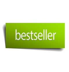 bestseller green paper sign on white background vector image vector image