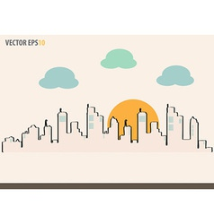 Cityscape sketch drawing for your design vector image